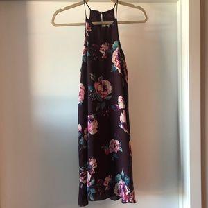 Maroon floral shift dress